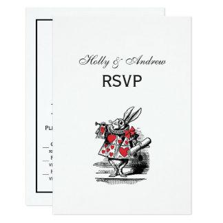 White Rabbit Court Trumpeter Alice in Wonderland Card