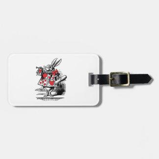 White Rabbit Court Trumpeter Alice in Wonderland Luggage Tag