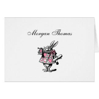 White Rabbit Court Trumpeter Alice in Wonderland P Card