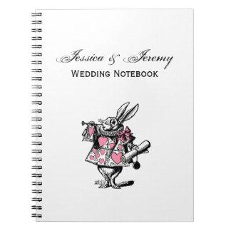 White Rabbit Court Trumpeter Alice in Wonderland P Notebook