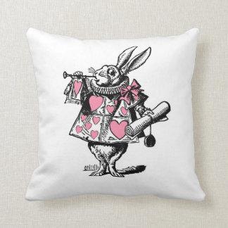 White Rabbit Court Trumpeter Alice in Wonderland P Throw Pillow