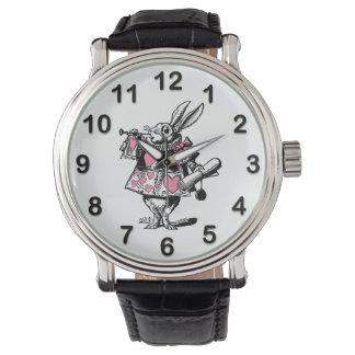 White Rabbit Court Trumpeter Alice in Wonderland P Watch