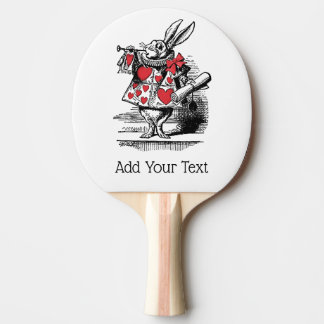 White Rabbit Court Trumpeter Alice in Wonderland Ping Pong Paddle