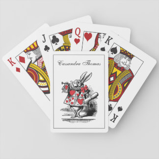 White Rabbit Court Trumpeter Alice in Wonderland Playing Cards