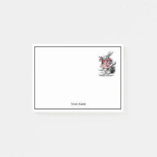 White Rabbit Court Trumpeter Alice in Wonderland Post-it Notes