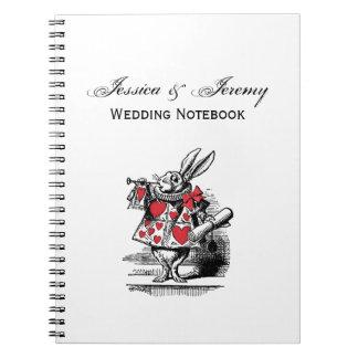 White Rabbit Court Trumpeter Alice in Wonderland Spiral Notebook