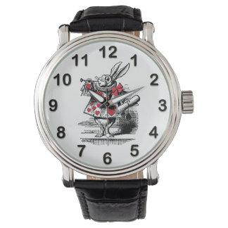 White Rabbit Court Trumpeter Alice in Wonderland Watch