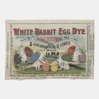 White Rabbit Egg Dye Kitchen Towel