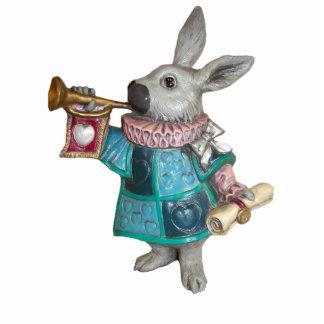White Rabbit Figurine Ornament Photo Sculpture Ornament