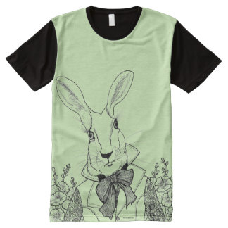 White Rabbit from Alice's Adventures in Wonderland All-Over-Print T-Shirt