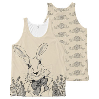 White Rabbit from Alice's Adventures in Wonderland All-Over-Print Tank Top