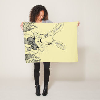 White Rabbit from Alice's Adventures in Wonderland Fleece Blanket