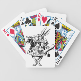 White Rabbit Herald Inked Black Poker Deck