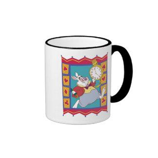 White Rabbit in Suited Frame Disney Ringer Mug