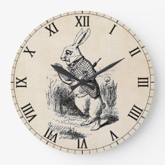White Rabbit Large Round Clock
