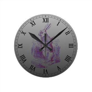 White Rabbit Letterpess Style Wall Clocks