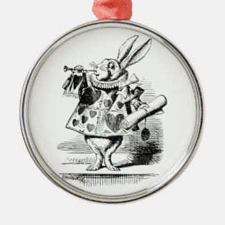 White Rabbit Metal Ornament