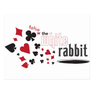 White Rabbit Postcard