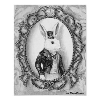 White Rabbit Poster Alice in Wonderland Poster