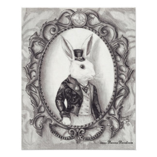White Rabbit Poster White Rabbit Art Wonderland