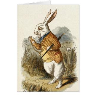 White Rabbit Print from Alice in Wonderland Card