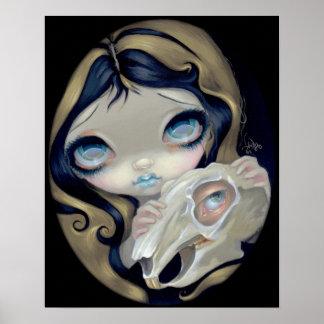 White Rabbit Resurrected ART PRINT gothic Alice