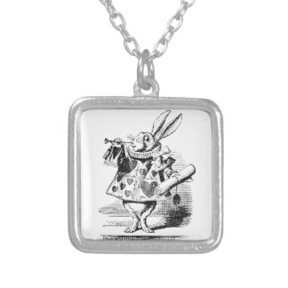 White Rabbit Silver Plated Necklace