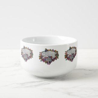 white rabbit soup mug