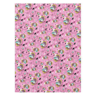 white rabbit table cloth wonderland tablecloth