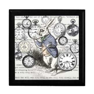 White Rabbit Time Alice in Wonderland Gift Box