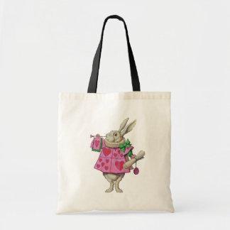 White Rabbit Tote/Shopper Canvas Bags