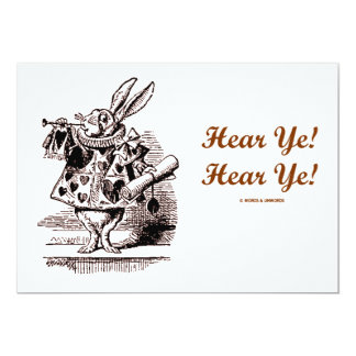 White Rabbit Trumpet Hear Ye! Hear Ye! Wonderland Card