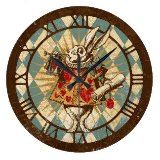 White Rabbit Vintage Alice Wall Clocks