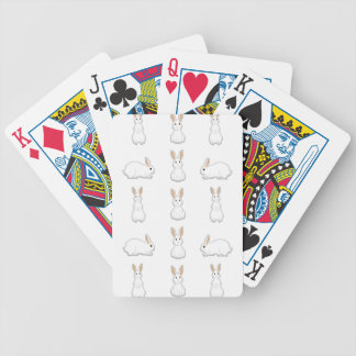 white rabbits bicycle playing cards