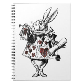 White Rabbits of Hearts - Alice in Wonderland Notebooks
