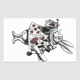 White Rabbits of Hearts - Alice in Wonderland Sticker