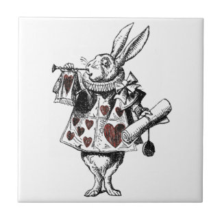 White Rabbits of Hearts - Alice in Wonderland Tile