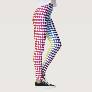 White Rainbow Colors Scales Pattern | Adorable Leggings