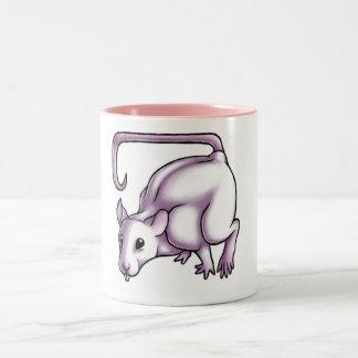 White Rat Two-Tone Coffee Mug