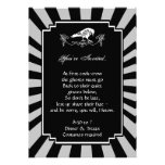 White Raven Halloween Party Invitation