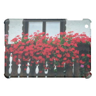 White Red accent flowers Case For The iPad Mini