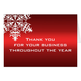 White & Red Business Thank You Note Card