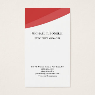 White red curves classical professional minimalist business card