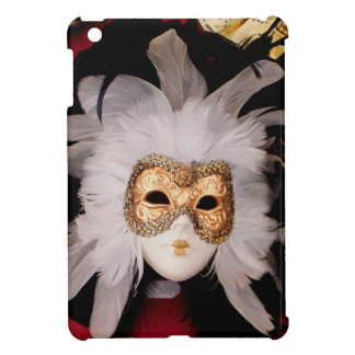 White / Red / Gold / Black Venetian Mask iPad Mini Covers