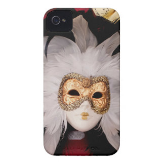 White / Red / Gold / Black Venetian Mask iPhone 4 Cover