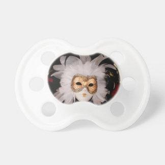 White / Red / Gold / Black Venetian Mask Pacifier