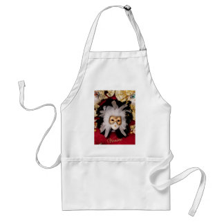 White / Red / Gold / Black Venetian Mask Standard Apron