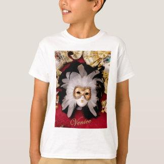 White / Red / Gold / Black Venetian Mask T-Shirt