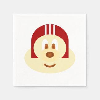 White Red Helmet 鮑 鮑 Paper Napkin