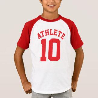 White & Red Kids | Sports Jersey Design T-Shirt